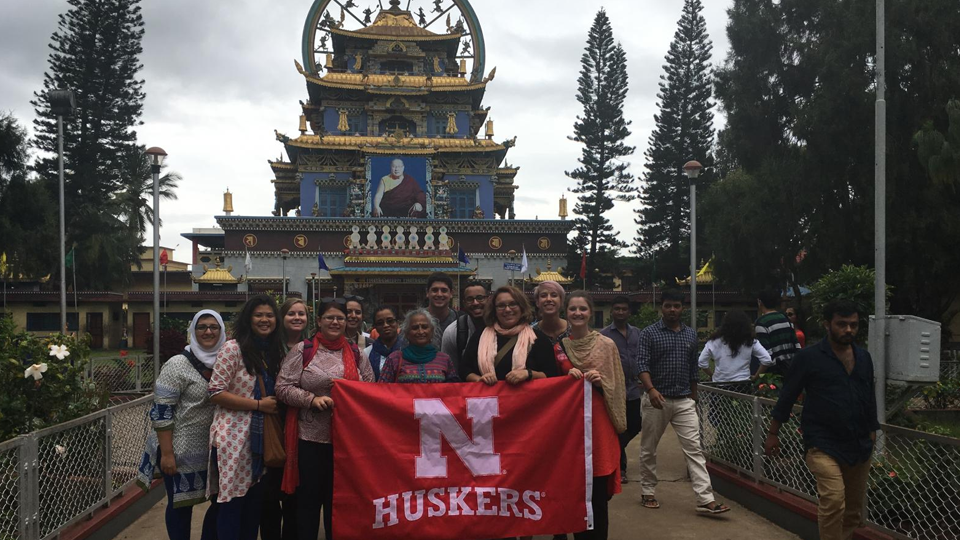 Students and faculty in Mysore, India