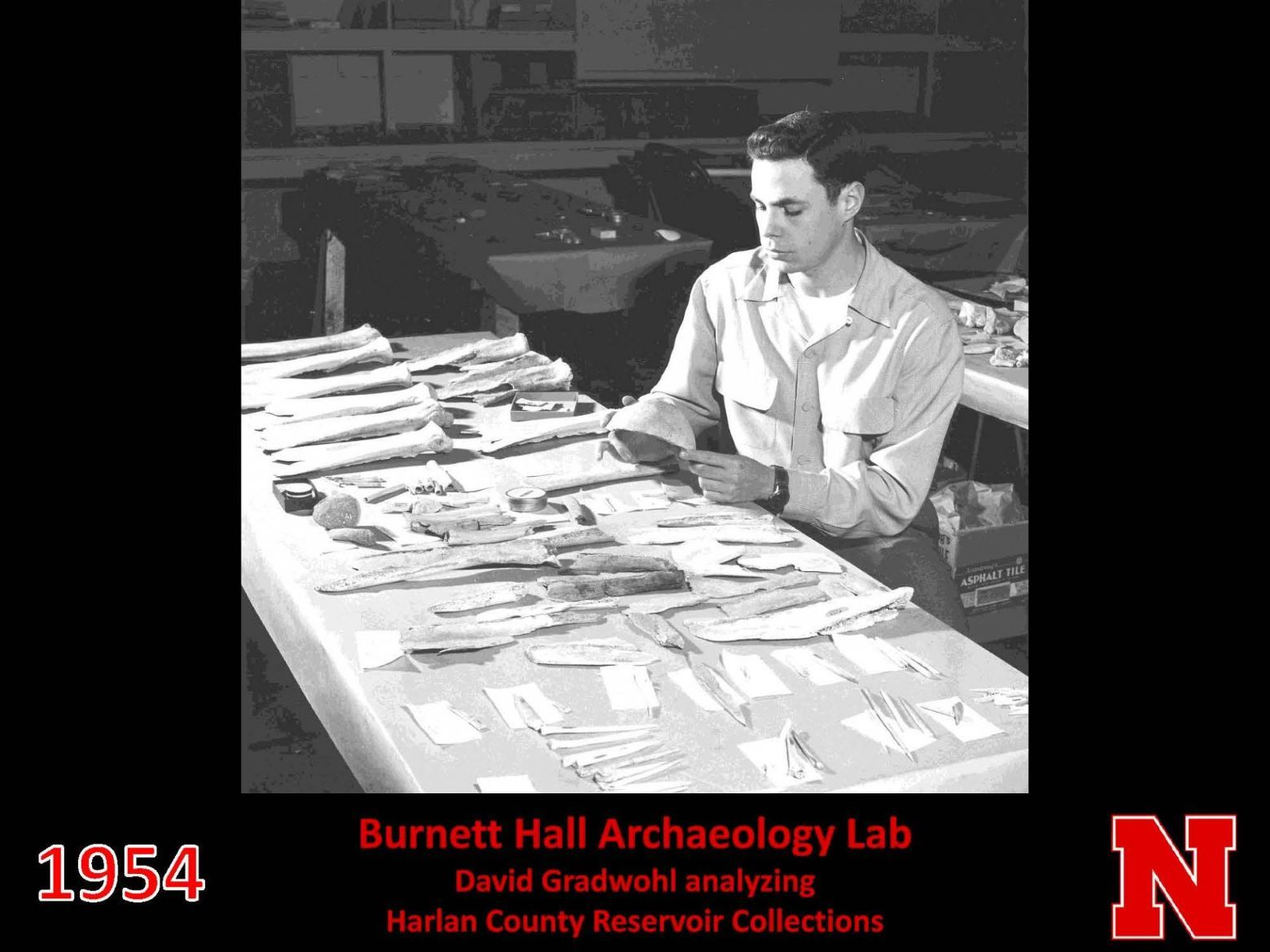 David Gradwohl analyzing Harlan County Reservoir collections